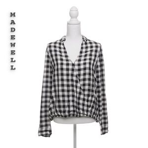 Madewell Plaid Checker Top Size M